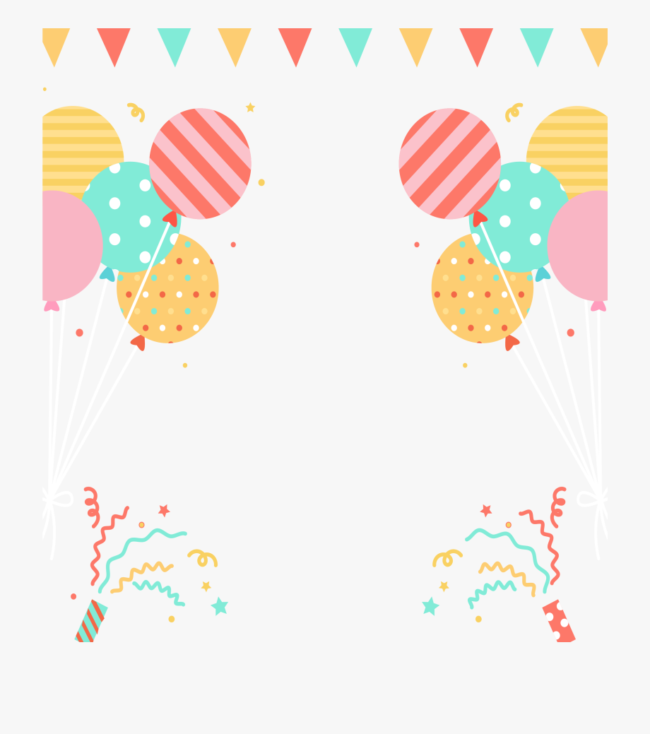 Carnival Balloon Birthday Lively Party Hat Clipart.
