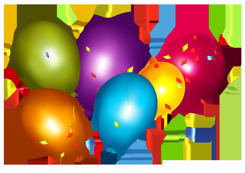 Balloon Confetti Party hat Clip art.