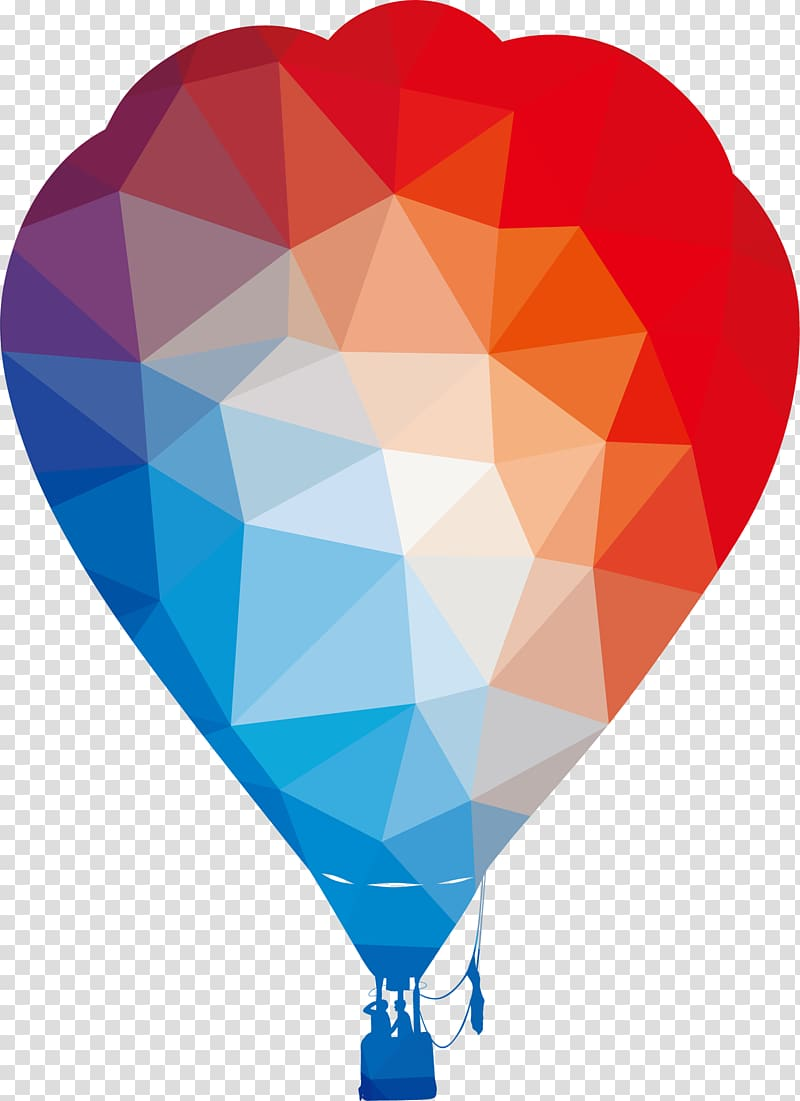 Hot air ballooning Silhouette, Cartoon Color Hot Air Balloon.