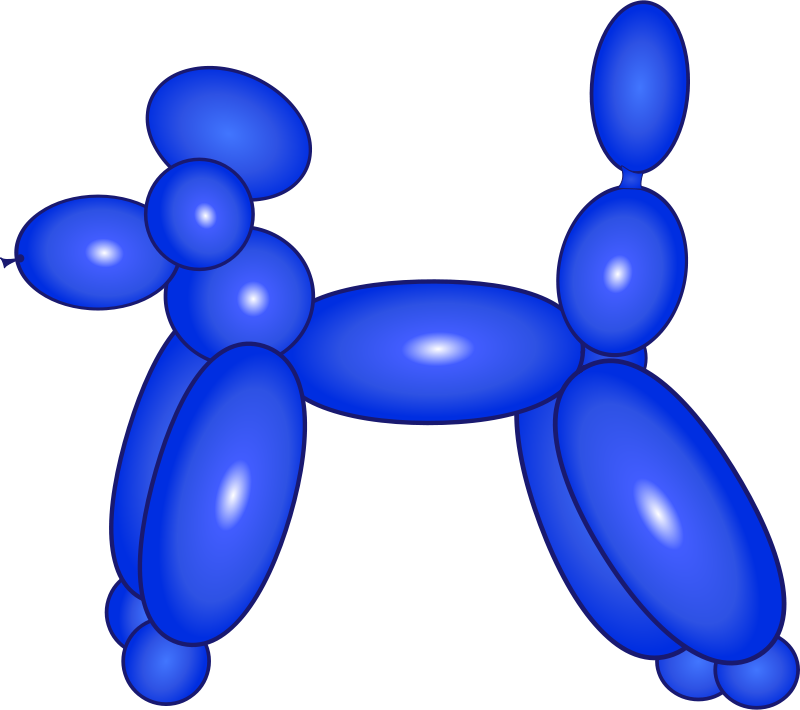 Free Clipart: Balloon Dog Blue.