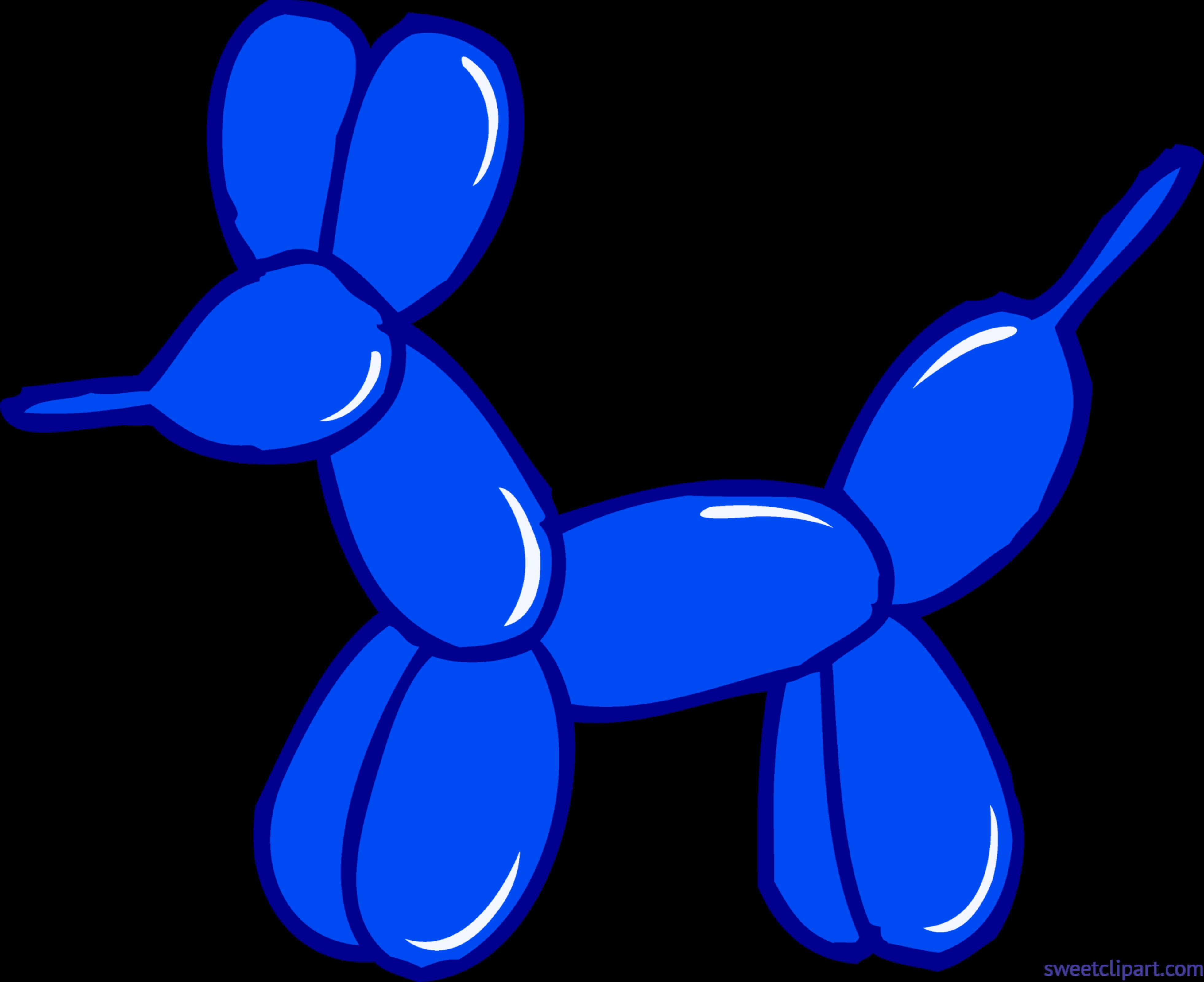 Blue Balloon Animal Clip Art.