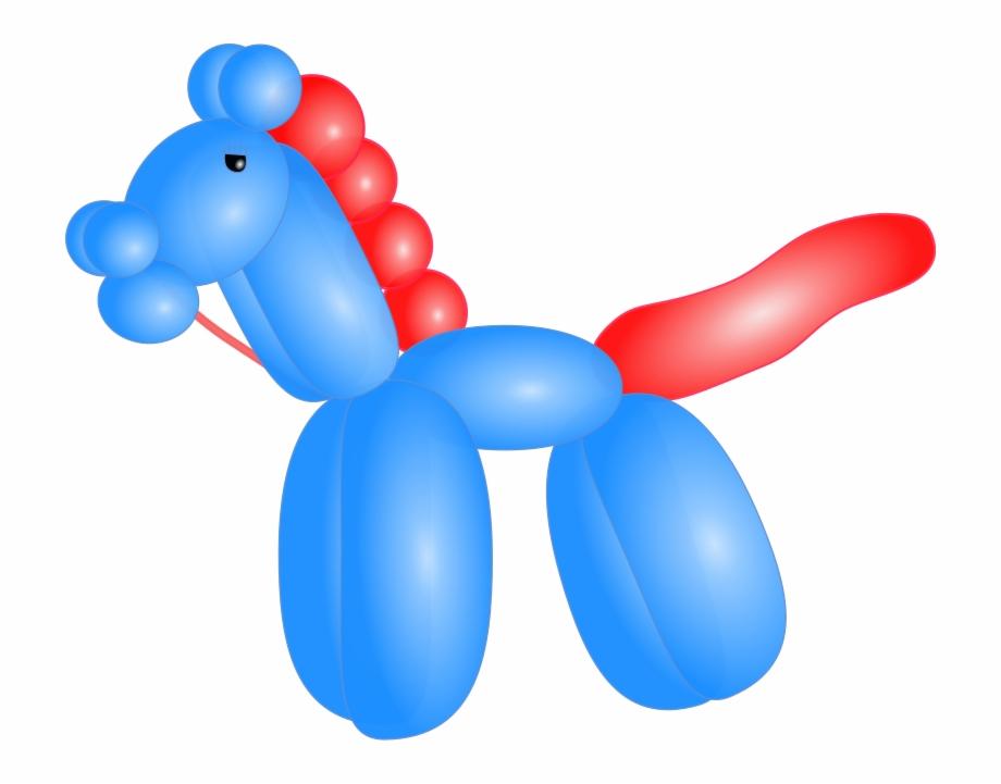 Balloon Horse Free Vector.