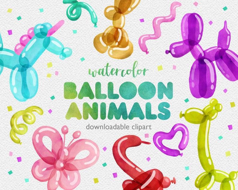 Watercolor Balloon Clipart.