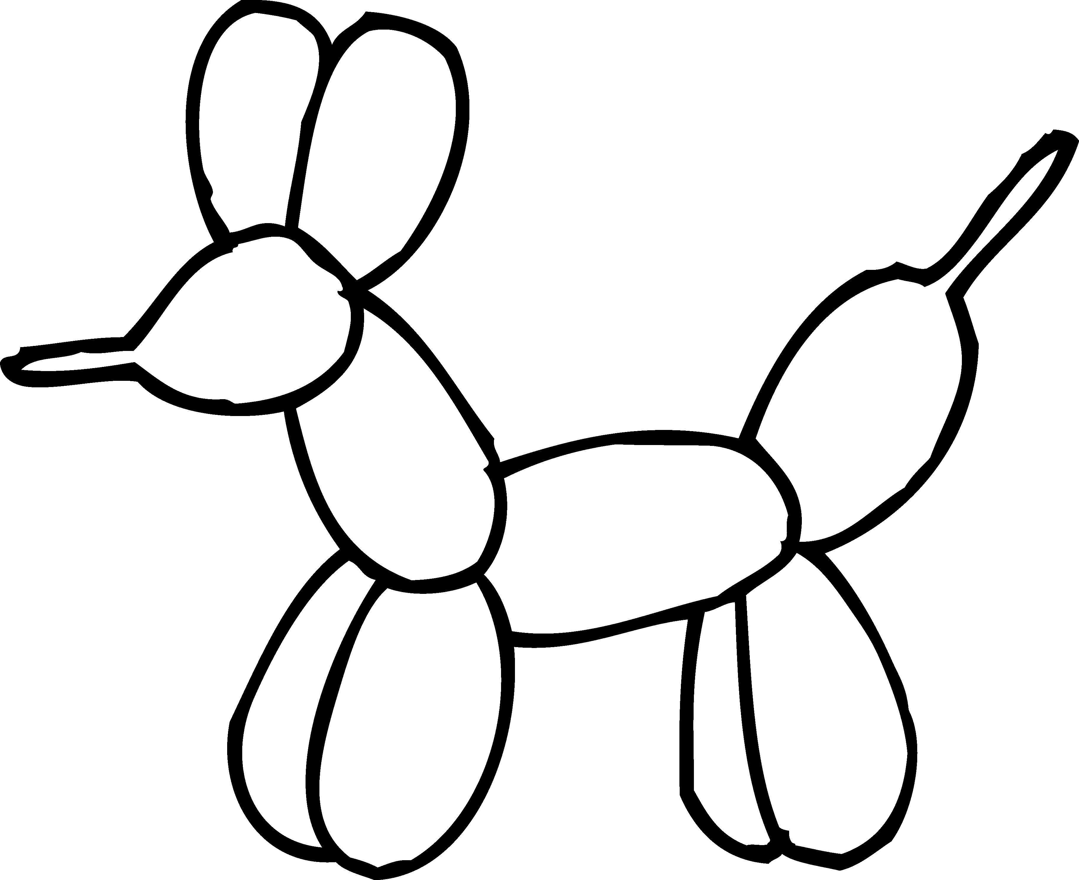 Within Balloon Animals Clipart Black And White 1.