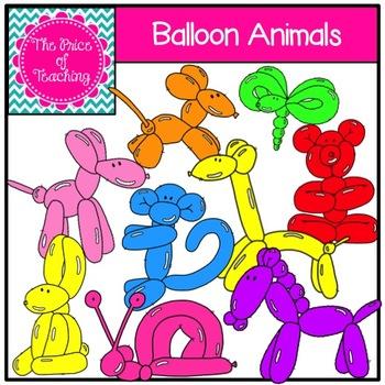 Balloon Animal Clipart Set.