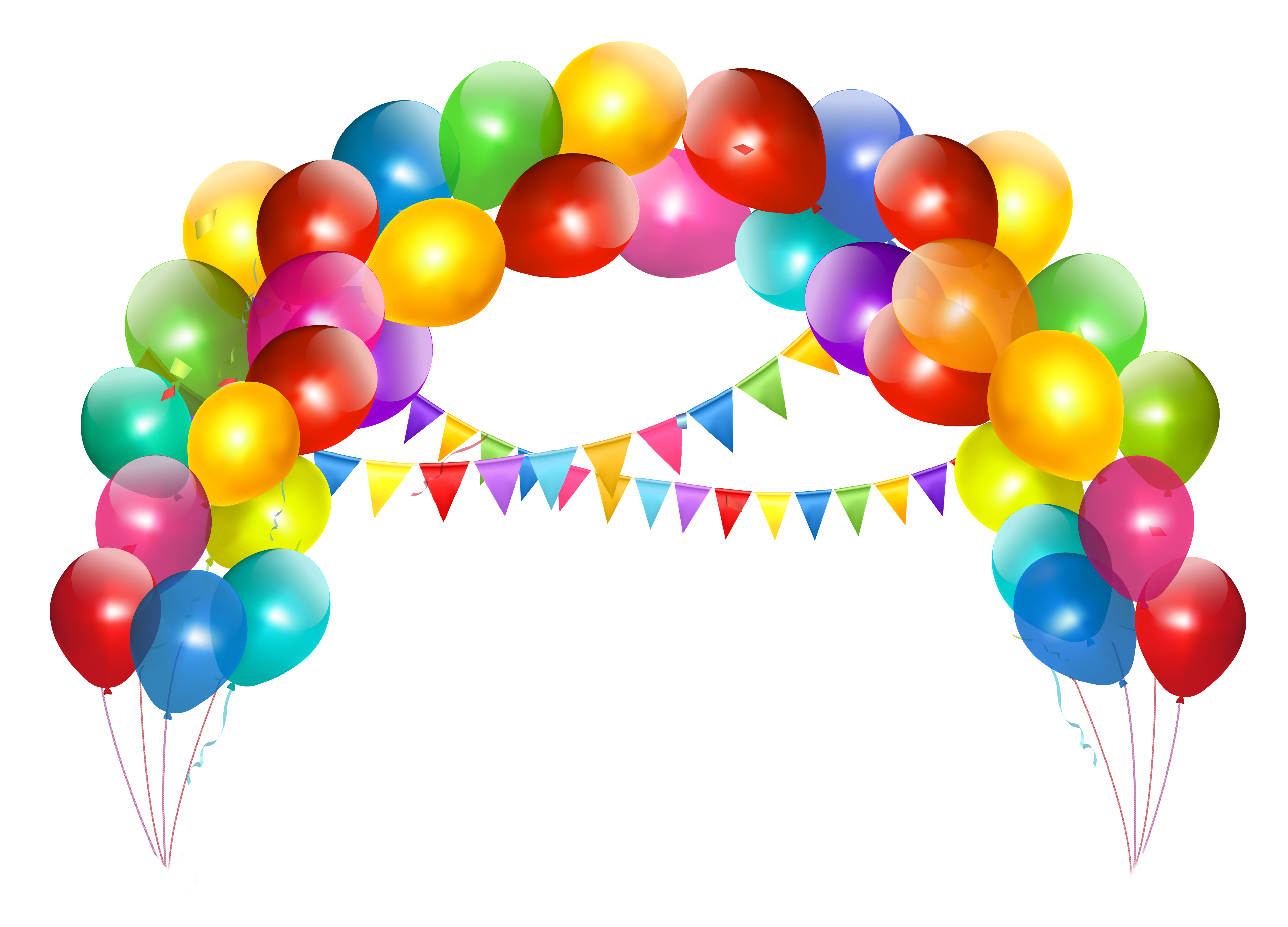 Transparent Balloon Arch with Decoration Clipart.