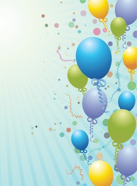 Balloons Design Background Clipart Picture Free Download.