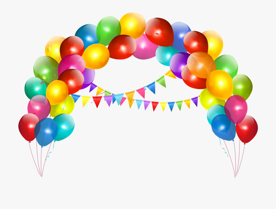 Birthday Cake Balloon Clip Art.