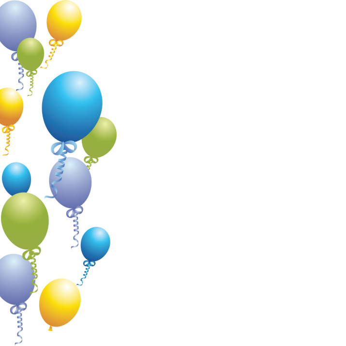 balloons background PNG.