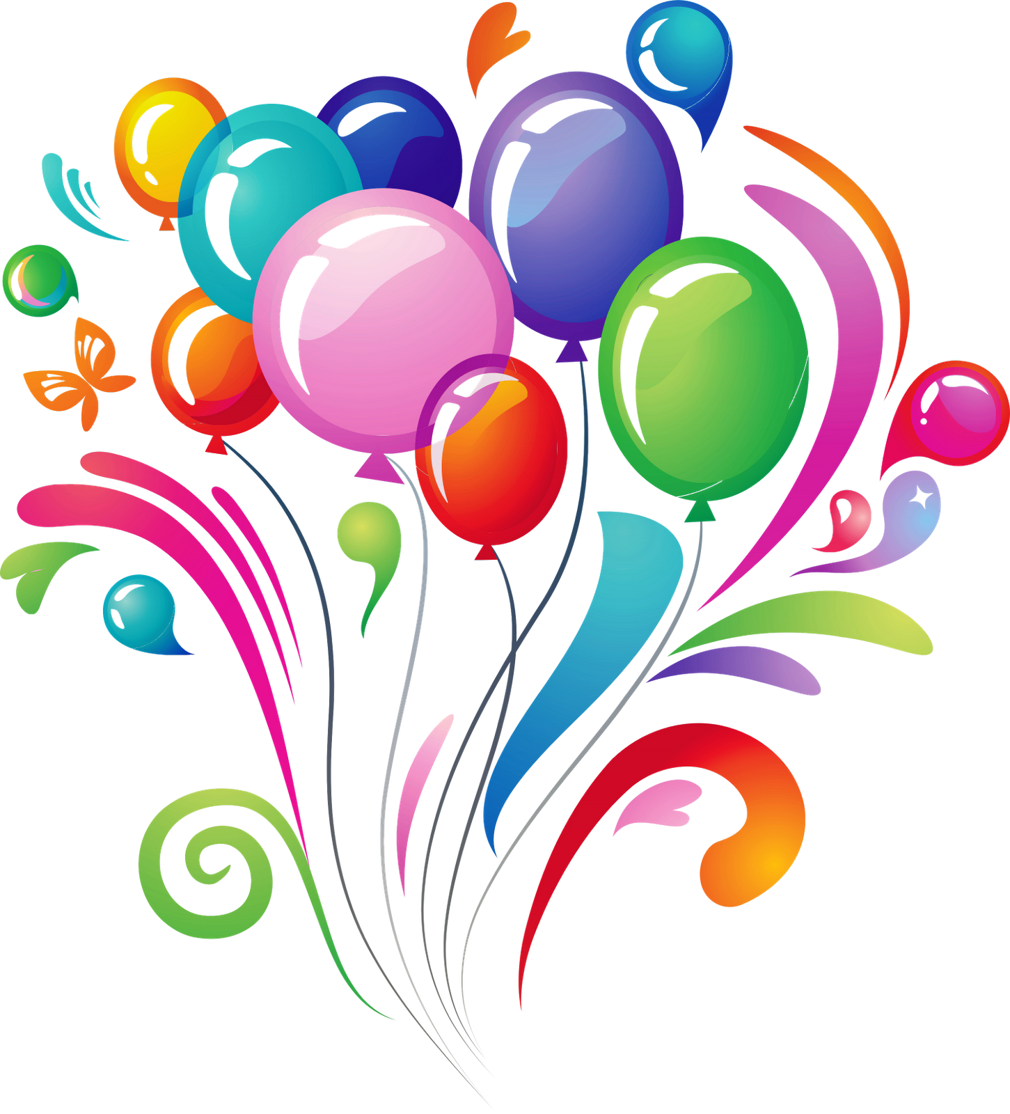 Birthday Balloons Background Wallpaper Png, png collections at.