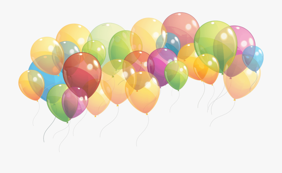 Birthday Party Balloons Png Clipart.