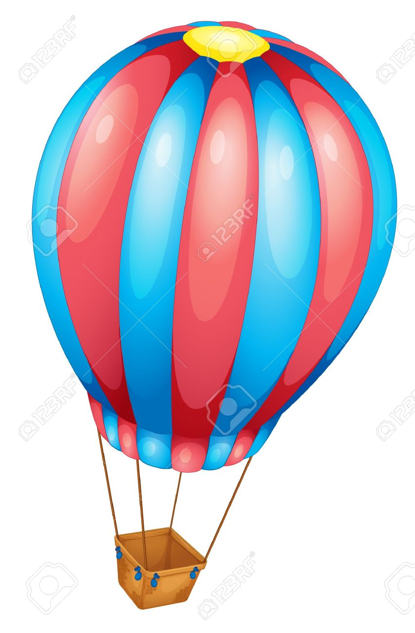 Hot Air Balloon Of White Royalty Free Cliparts, Vectors, And Stock.