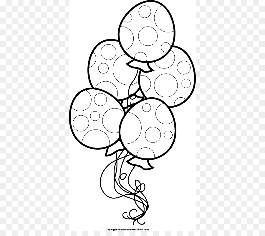 Black And White Clipart Birthday Balloons.