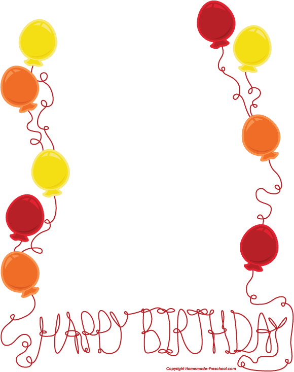 Free Balloons Border, Download Free Clip Art, Free Clip Art on.