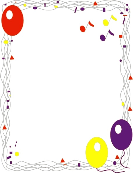 Balloon Border clip art Free vector in Open office drawing svg.