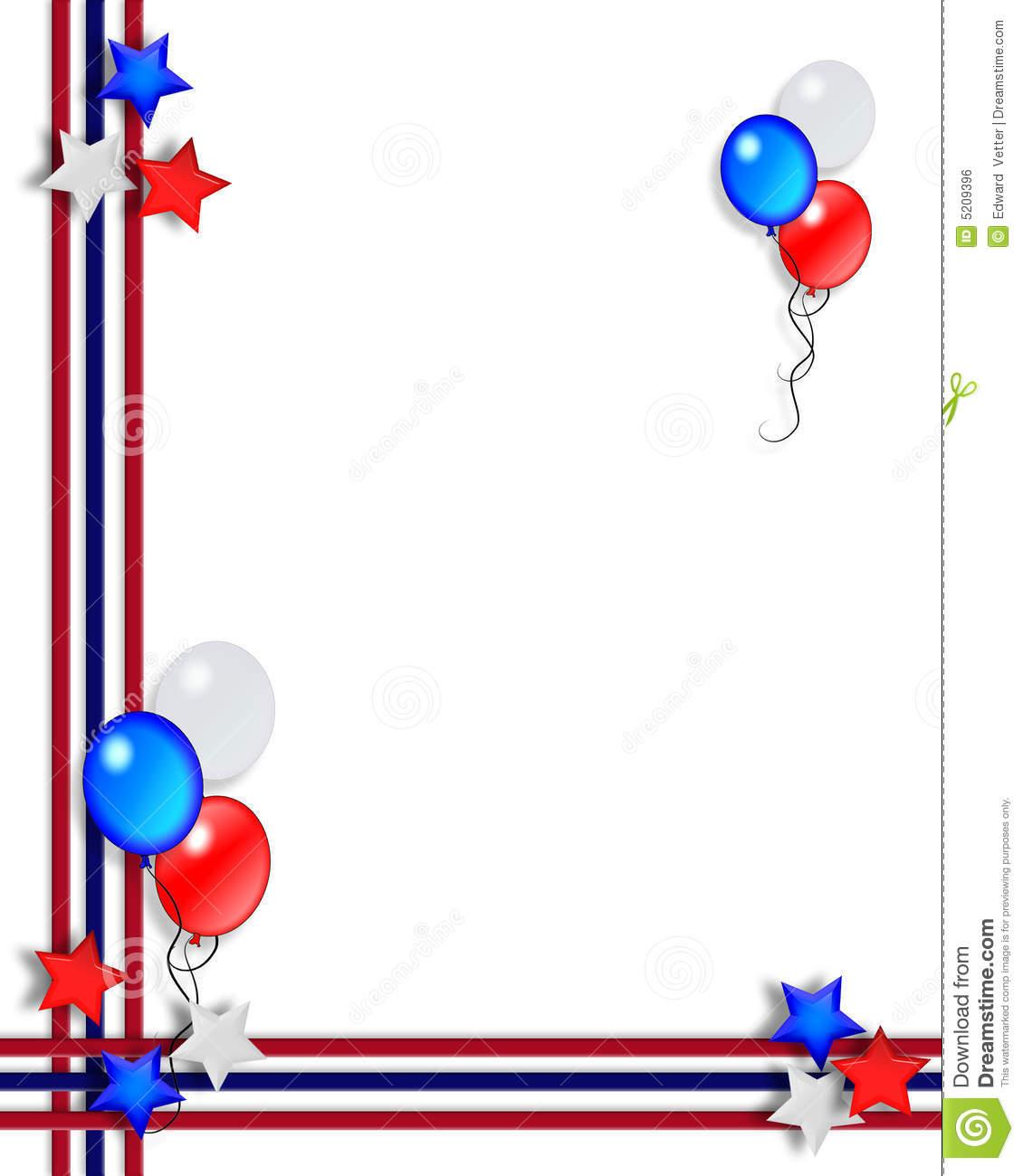 Balloons Border Clipart.