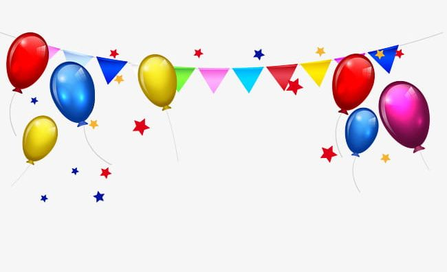 Balloon Bunting Stars Border PNG, Clipart, Balloon, Balloon Clipart.