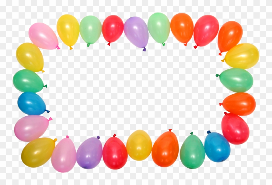 Birthday Balloon Border Clip Art.