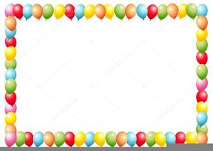 Balloon Borders Clipart.