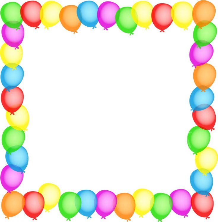 Birthday Balloon Border Prawny Clip Art.