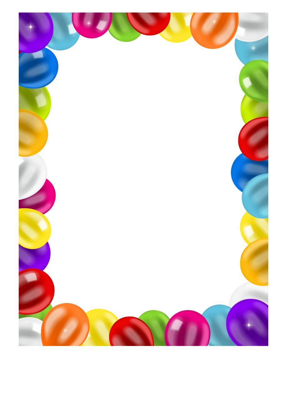 Birthday Clip Art Balloons Border Png Image.