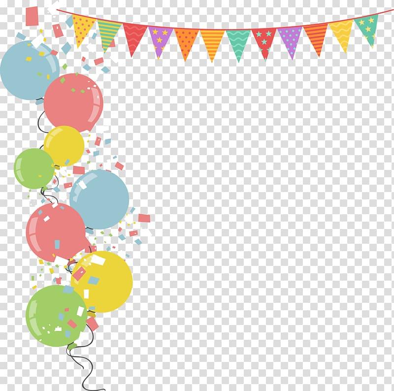 Balloon Party illustration Illustration, Colorful balloons border.