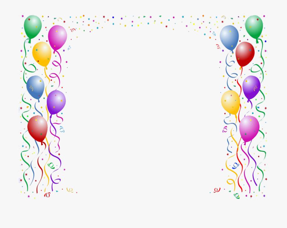 Balloon Clip Art Border.