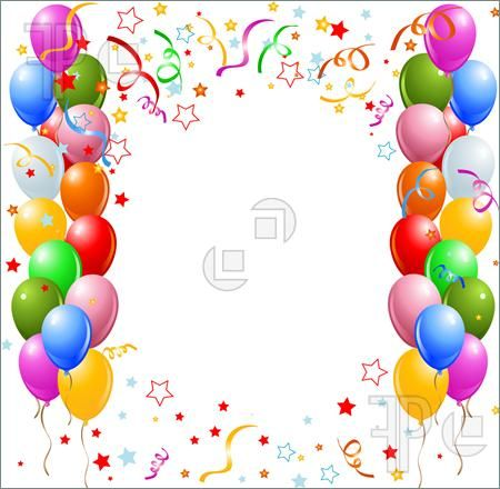 Balloons clipart boarder, Balloons boarder Transparent FREE.