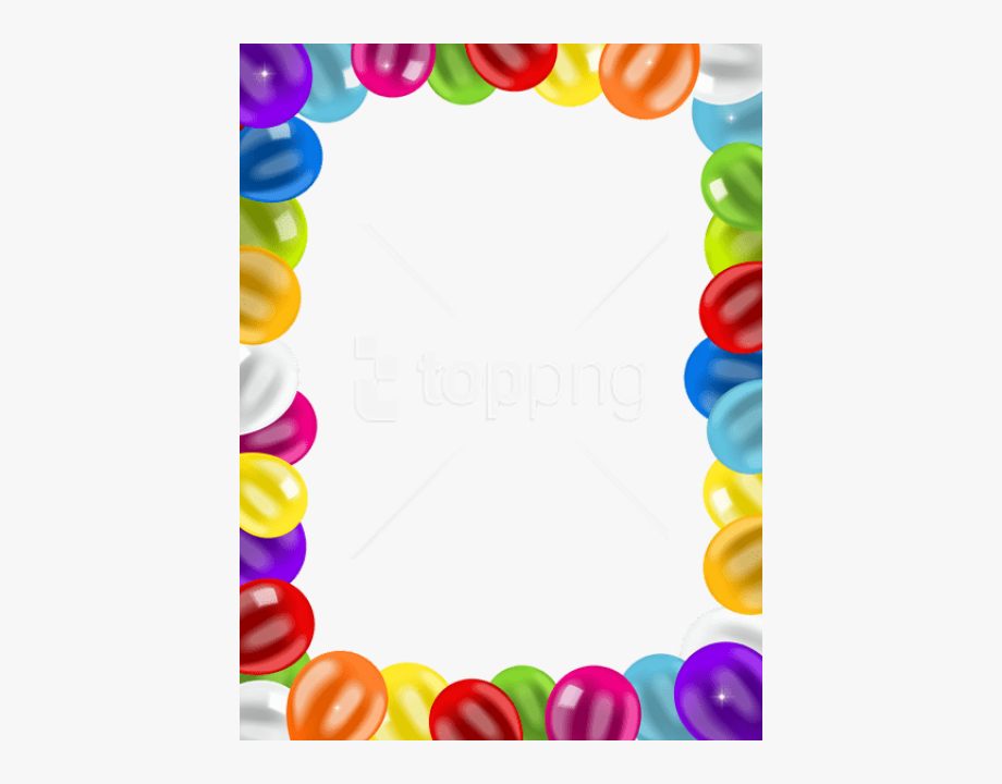 Free Png Download Balloons Border Frame Png Images.