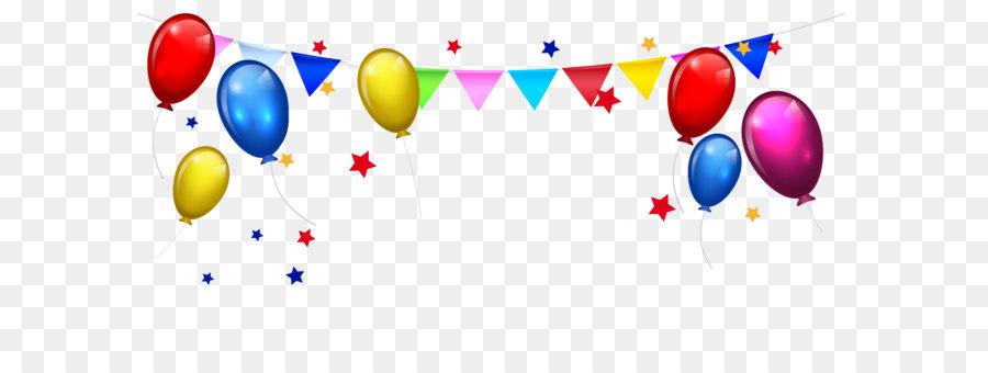 Birthday Cake Cartoon Clip Art Balloon Bunting Stars Border Png.