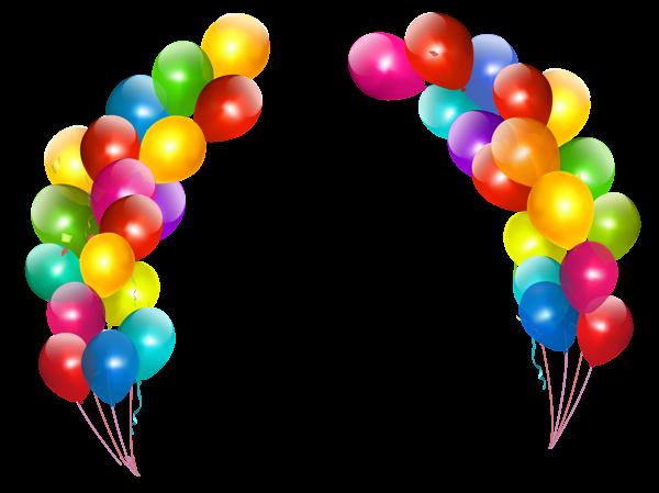 Balloon Border Clipart.