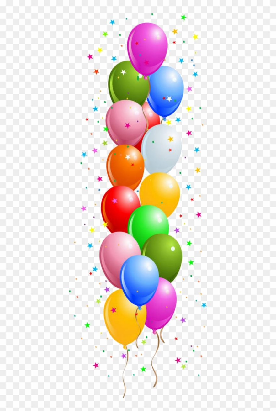 Border Birthday Balloons Clipart.