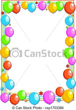 balloon border.