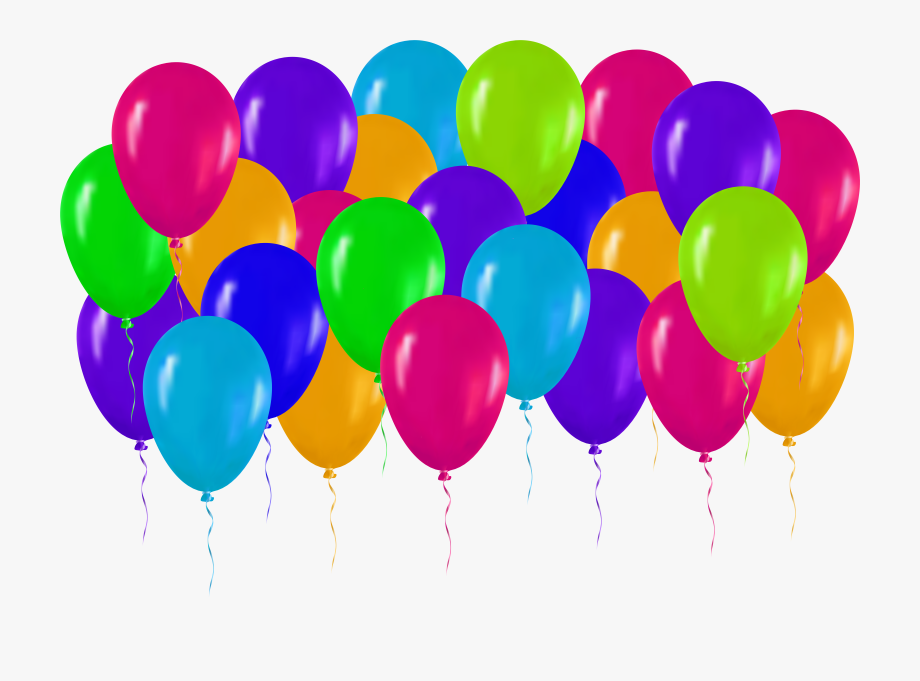 Colorful Balloons Png Clip Art.
