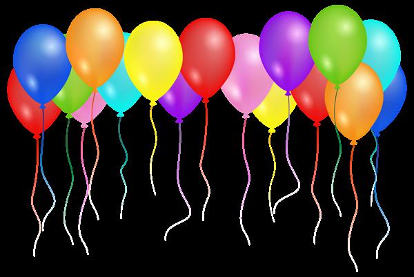 Balloons Transparent PNG Clip Art Image.