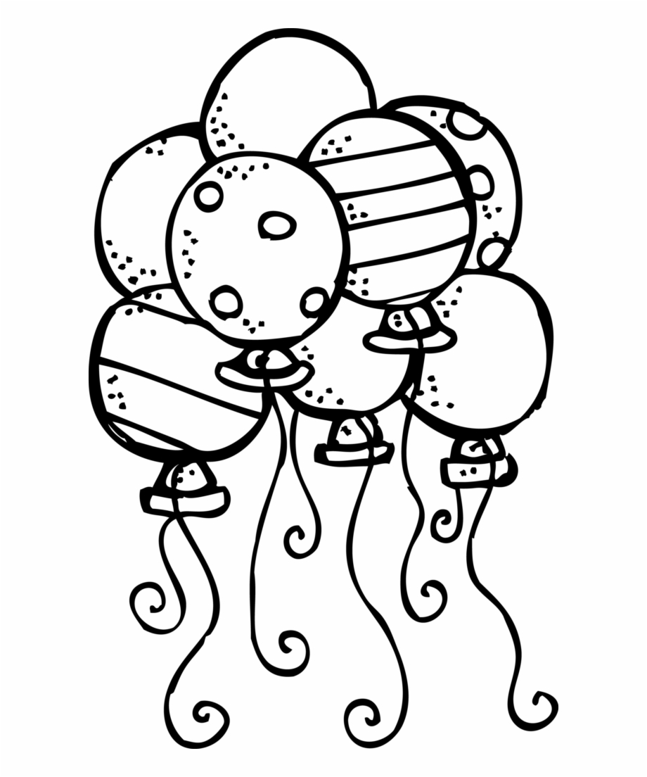 Back To School Clipart Black And White Balloon.
