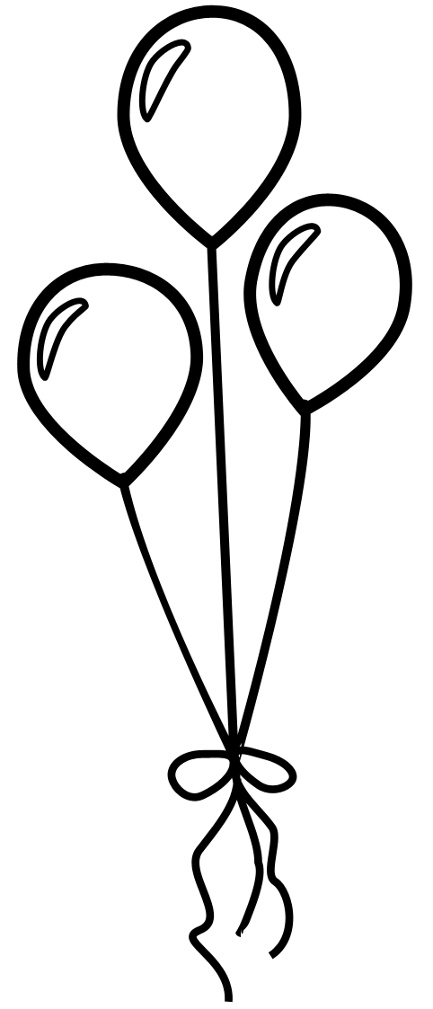 Balloon Black And White Clipart.