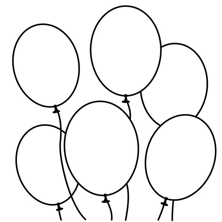 Balloon Clipart Black And White.