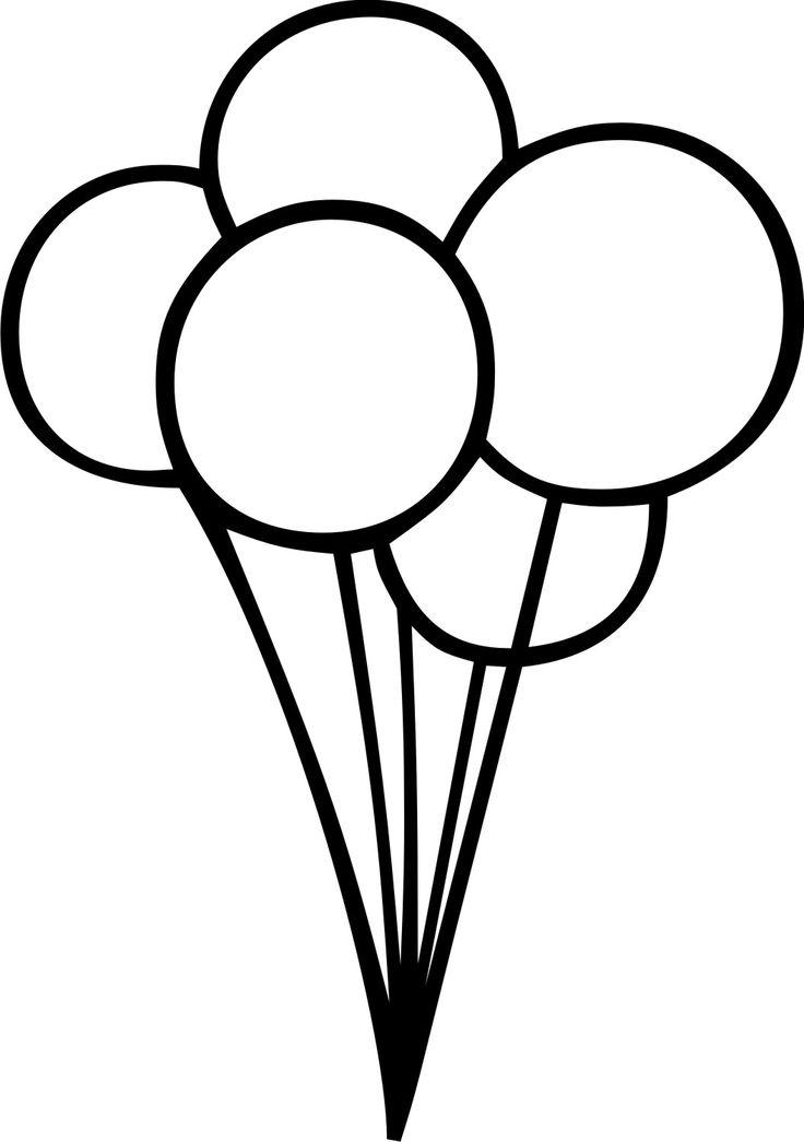 Black And White Birthday Balloon Clip Art.