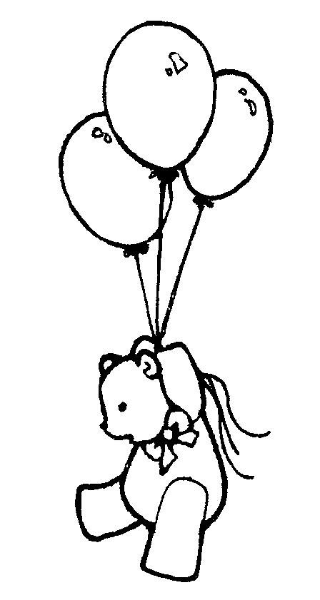 Balloon Clip Art Black And White Free.