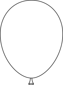 Black And White Balloon Clipart.