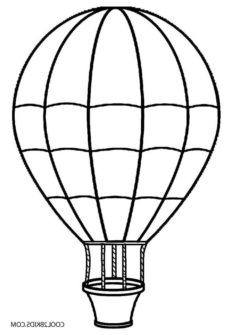 Best Hot Air Balloon Clipart Black And White Drawing with Hot Air.