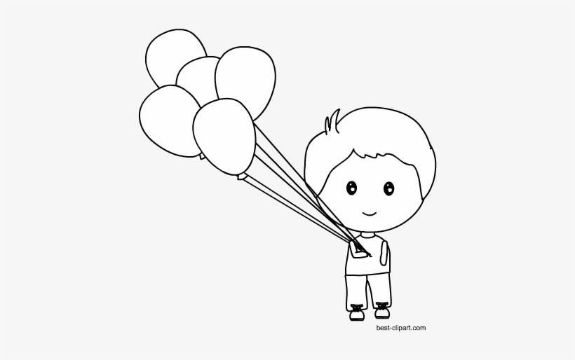 Svg Library Library Black And White Balloons Clipart.