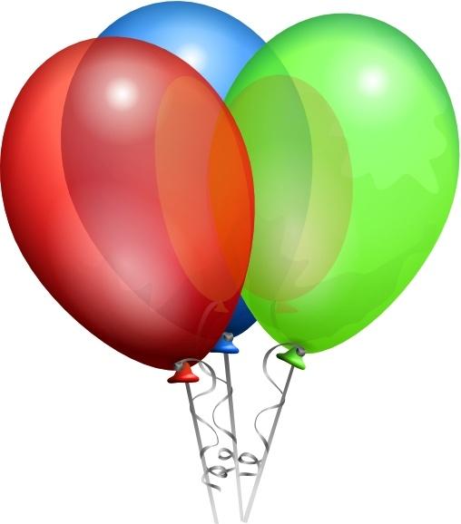 Party Helium Balloons clip art Free vector in Open office.