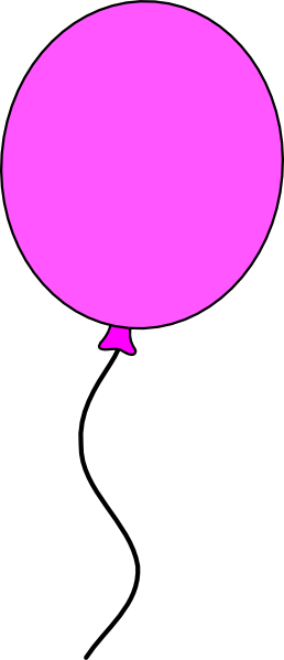 Single balloon with string clipart.