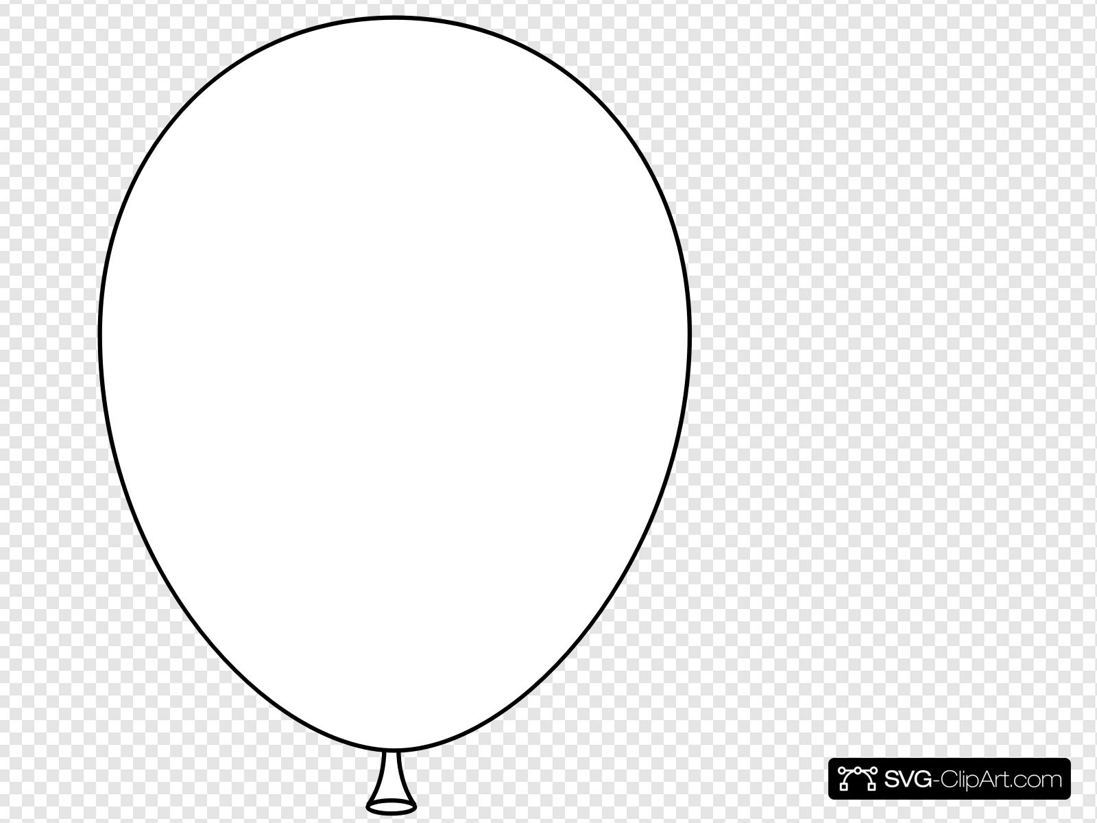 White Balloon Clip art, Icon and SVG.