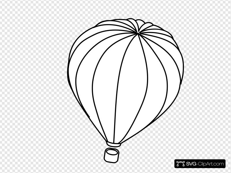 Hot Air Balloon Outline Clip art, Icon and SVG.