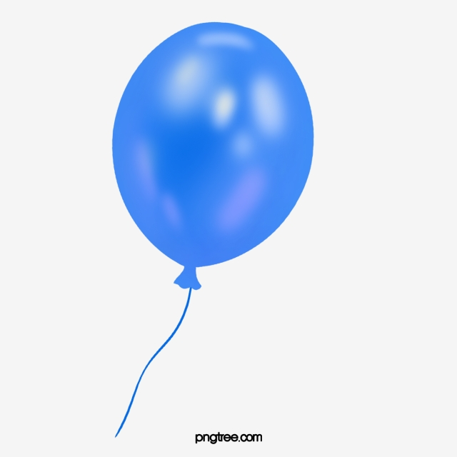 Blue Balloon, Balloon Clipart, Simple, Blue PNG Image and Clipart.