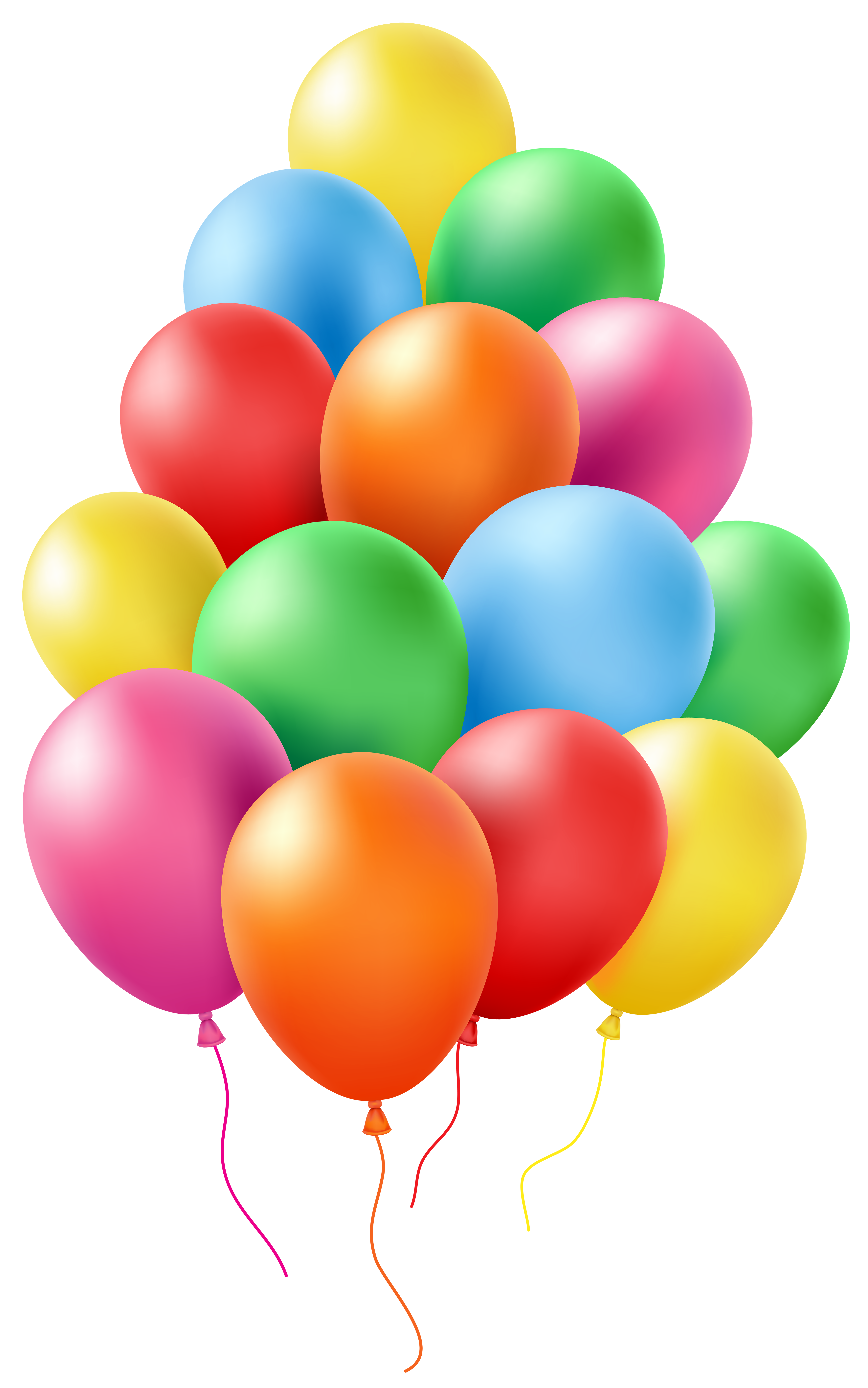 Balloons Clip Art PNG Transparent Image.