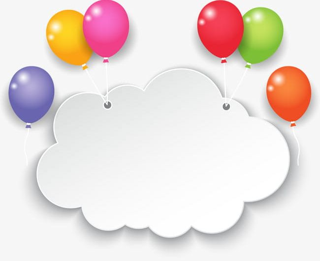 Colorful Balloon Clouds PNG, Clipart, Activity, Balloon, Balloon.